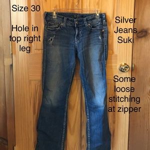 Used silver jeans